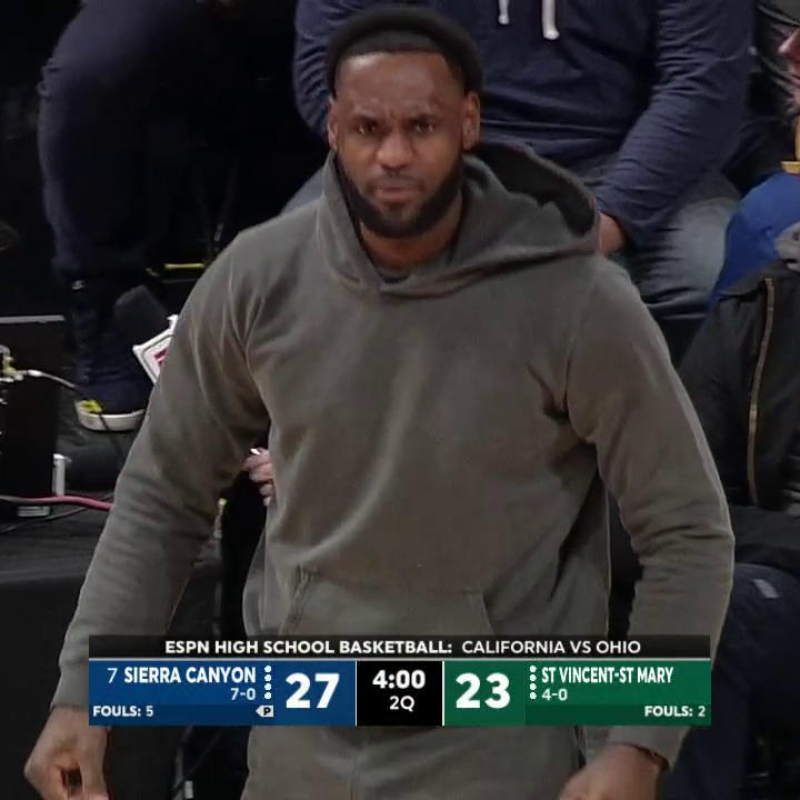 Bronny is heating up, and LeBron is out of his seat 👏