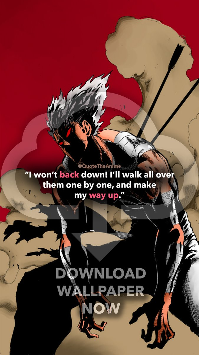 Quote The Anime On Twitter Garou Wallpaper One Punch Man