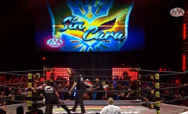 Sin Cara Appears At AAA Guerra De Titanes