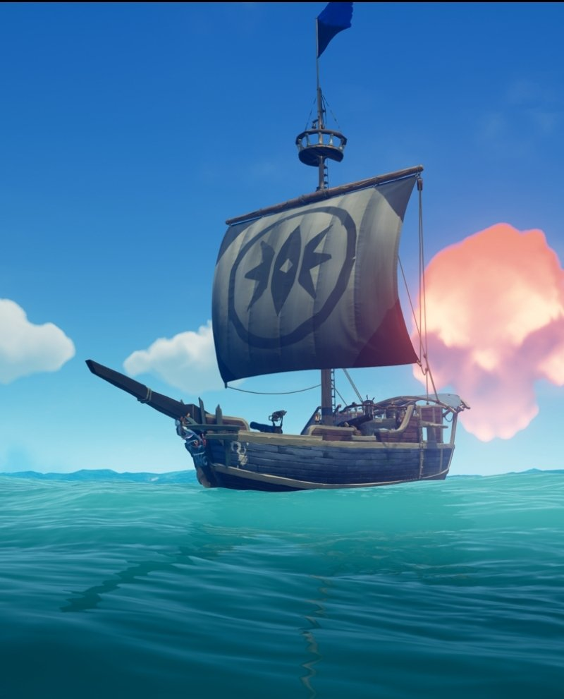 Just got the Magpies Fortune sails, and I have to say, The Shipwreck is looking great! And with the ashen cloud in the background, this is a fine summary pic for the Festival of Giving & it's rewards! @SeaOfThieves #SeaofThieves