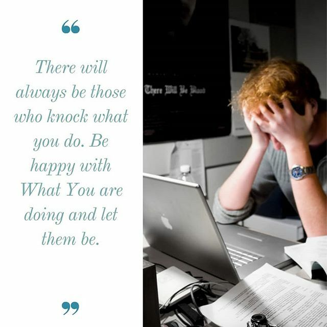 There will always be those who knock what You do. A great area we need to work on is removing fear from our lives to let us be free to be ourselves. #sahd #sahm #lifestyle #designyourlife #createyourlife #success #healthtransformation http://bit.ly/2RSBaok pic.twitter.com/mxKhniaOXz