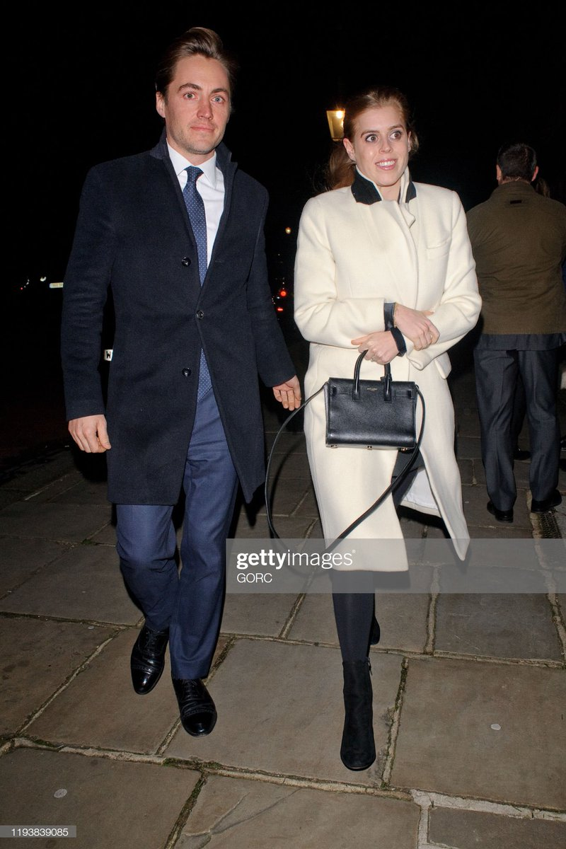 Royalarjan On Twitter Princess Beatrice Of York And Her Fiance Count Edoardo Mapelli Mozzi Princess Eugenie Mrs Jack Brooksbank And Lord And Lady Frederick Windsor Attended Evgeny Lebedev S Christmas Party In London