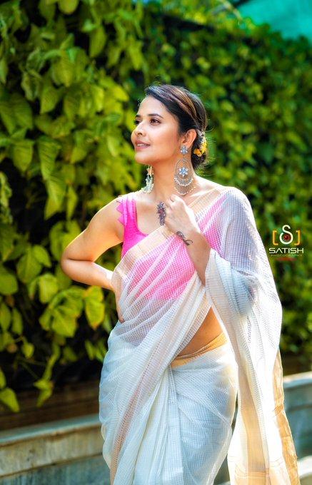 1 pic. For an opening in #Nidadavolu yesterday!! Wearing another Handloom Look by @Gauri_Naidu 🕊 #DrapeStories