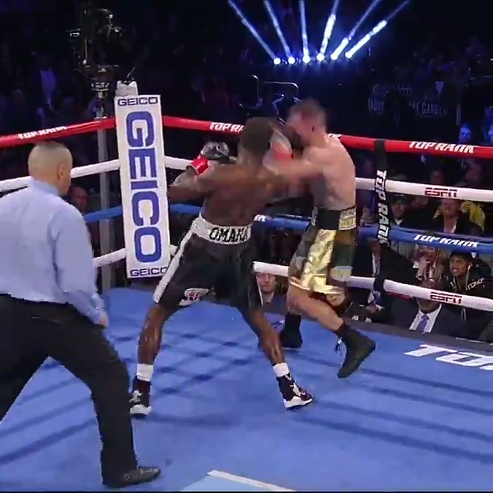 """""""He's one of the best closers in the business.""""   @TerenceCrawford knew his opponent was hurt and wasted no time ending the fight in the 9th round. #CrawfordMachine"""