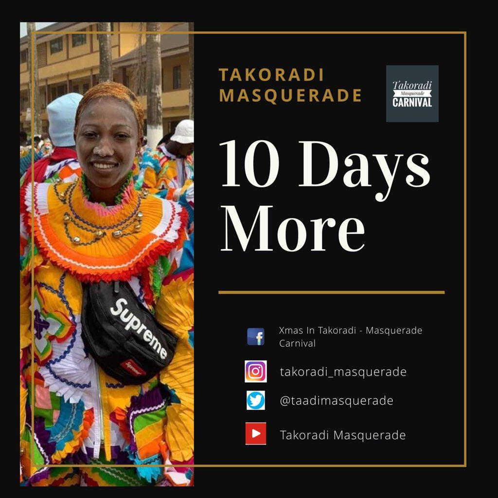 Days more 2019 Masquerade Parade @suprememasqueraders   #XmasInTadi #Masquerade #Ankos #Festival #Carnival #Fancy #Tadifest #WestsideCarnival #FancyClub #FancyDress #Sunday #SundayFunDay #YearOfReturnpic.twitter.com/jdrd5Wyd0F