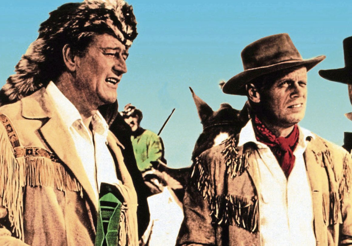 Another stone cold John Wayne classic tonight. #TheAlamo co-starring Richard Widmark.  The Duke plays Davy Crockett. He also produced AND directed. #Graft   6pm @ITV4 https://t.co/nhTK0rL4It