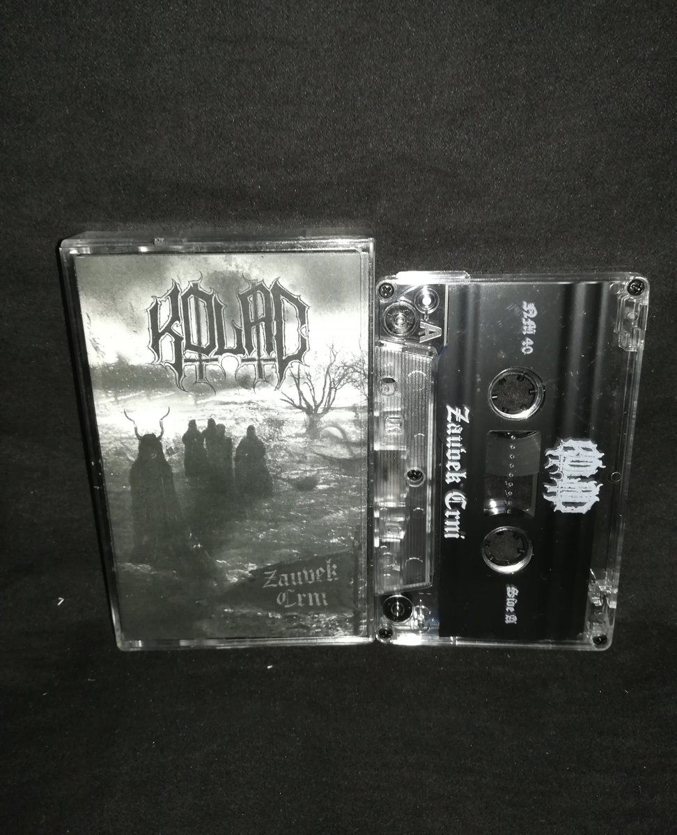 "#Kolac  ""Zauvek crni"" ⁠ Limited to 100 copies 5€+postage⁠ ⁠ warproductions@gmail.com⁠ ⁠ http://www.war-productions.org   #WarProductions⁠ #Mailorder⁠ #SupportTheUnderground⁠ #BlackMetalTapes #TapeKvlt⁠ #TapeFormat #TapePorn #BlackMetalCollection pic.twitter.com/KJVLH1rK9V"