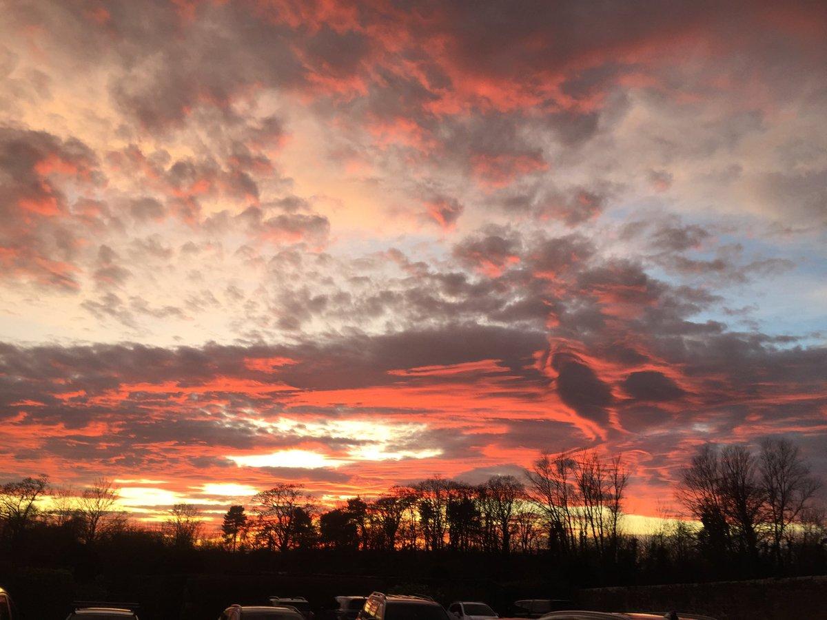 Sunset near Darlington