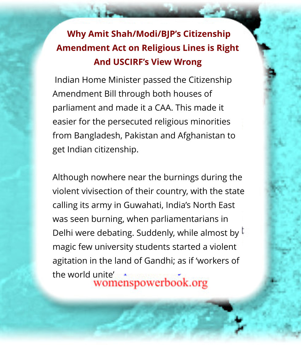#media #violence Following AmitShah/#Modi/#BJP's CAA both #IndianMedia & #WesternMedia dont know they R giving credence to violent protests in #India with #destruction of lives & #properties http://womenspowerbook.org sponsored http://bit.ly/2EUFKLg sayspic.twitter.com/TUXp1KMoO1