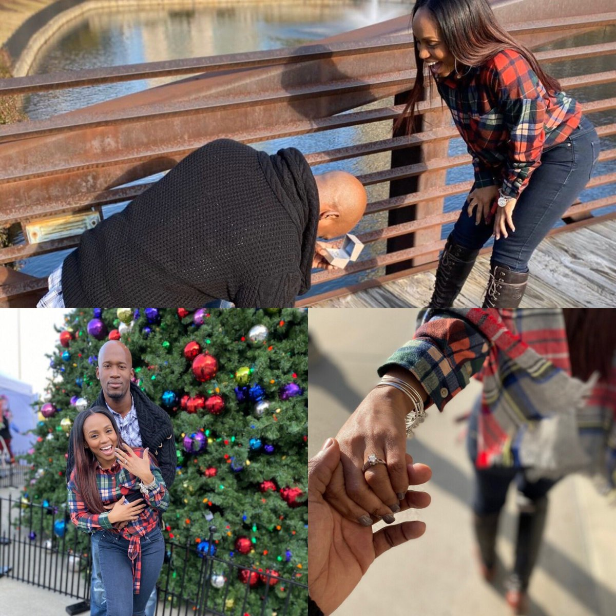 """SHE SAID YES! The ABSOLUTE BEST version of a """"reality"""" show is when something REALLY REAL comes from it! Help me CONGRATULATE the first cpl from our #ReadyToLove series to get ENGAGED! Tmw night we'll show never seen footage of their journey! CONGRATS MIKE AND IEASHIA!!! 🙏🏾🖤❤️"""