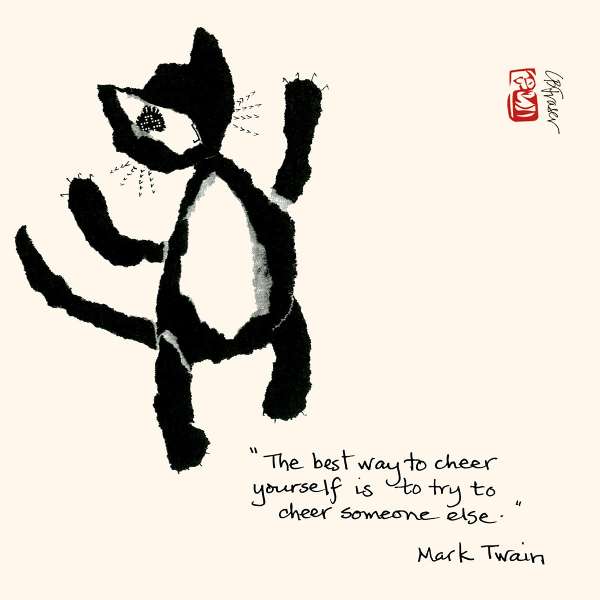 haiku cats on fbf marktwain quotes cheer season