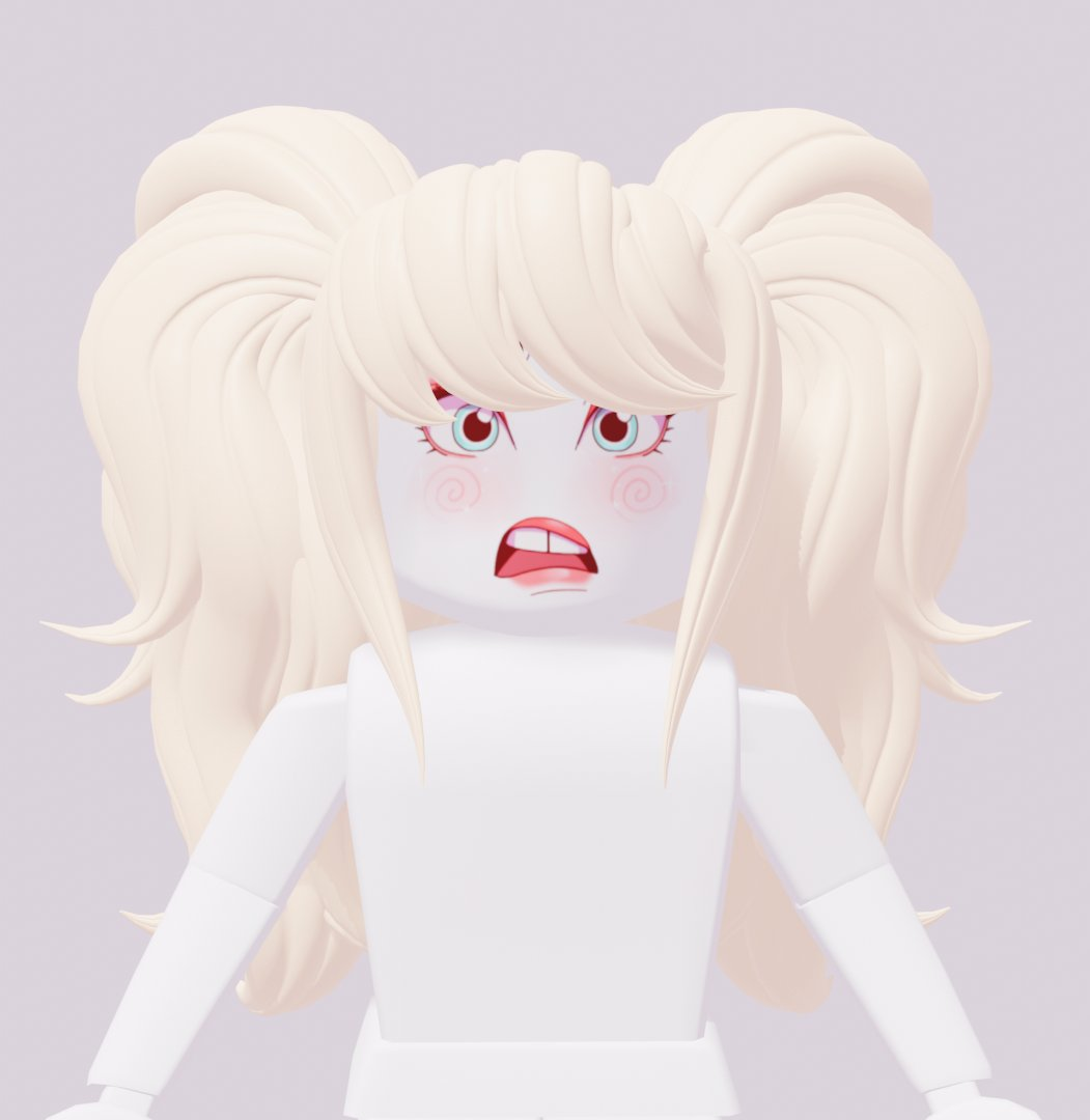 Teddy On Twitter Despair Twintails Face By Mugalo Hair