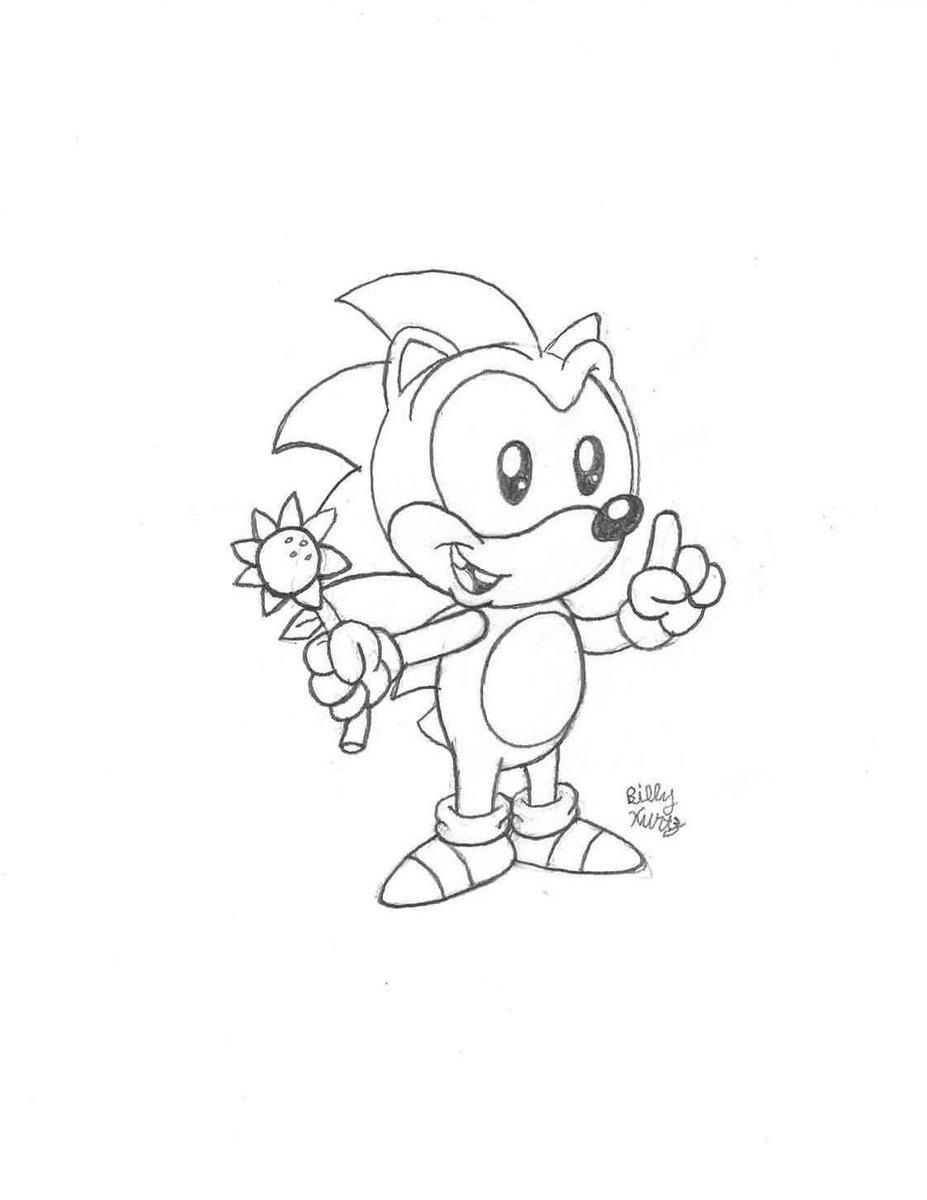 Billy K On Twitter I Had To Draw Baby Sonic Sonicthehedgehog Catchsonic Babysonic