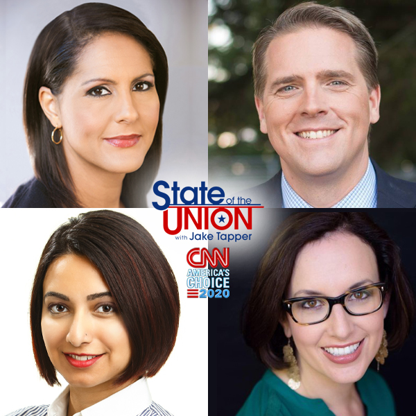 This Sunday on #CNNSOTU w/ @jaketapper: @finneyk, @ScottJenningsKY, @nayyeroar & @whignewtons. Tune in!