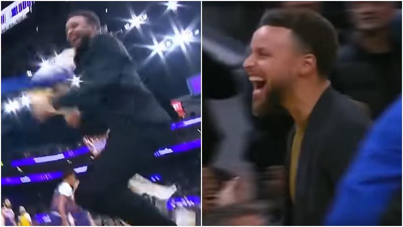 【影片】西區目前最長連勝!勇士又一場13分逆轉,格林越打越猛,Curry場邊很激動!