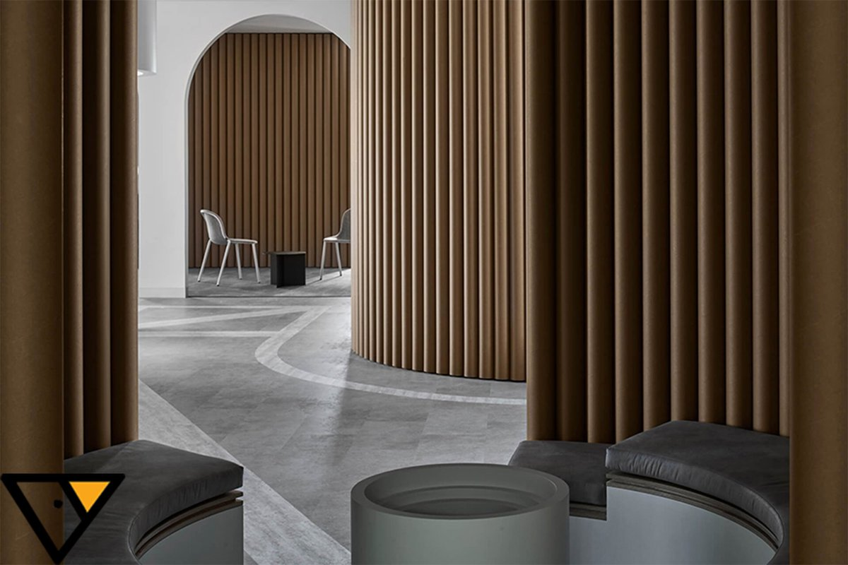 arki group on twitter we love the subdued colour palette and the fact that the office looks so serene and elegant credits piazza dell ufficio school administration office renovation arki arkigroupdesign twitter