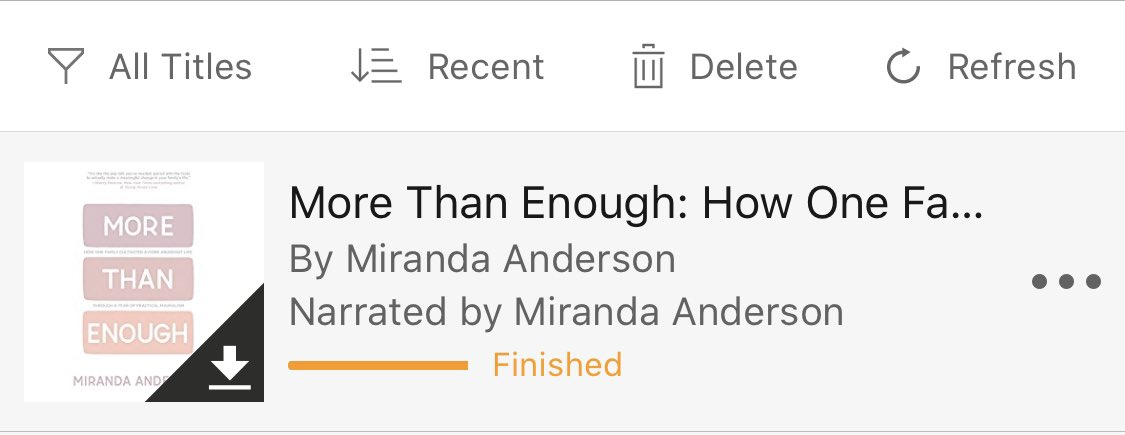 Just read #MoreThanEnough by @livefreemiranda . Loved it! I've always had a minimalist leaning, prefer experiences over stuff. But really enjoyed digging into practical resources to do this with more intention, unlocking more time & energy. #LessStuffMoreAdventure #GoodReads