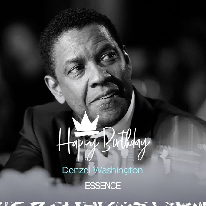 Happy 65th birthday to the one and only Denzel Washington.