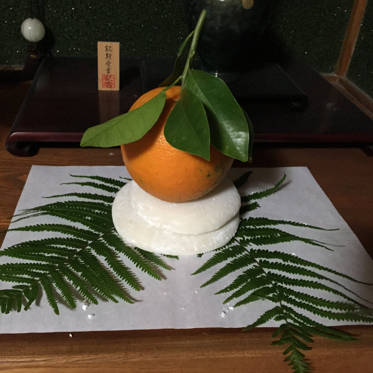 干し柿 鏡餅
