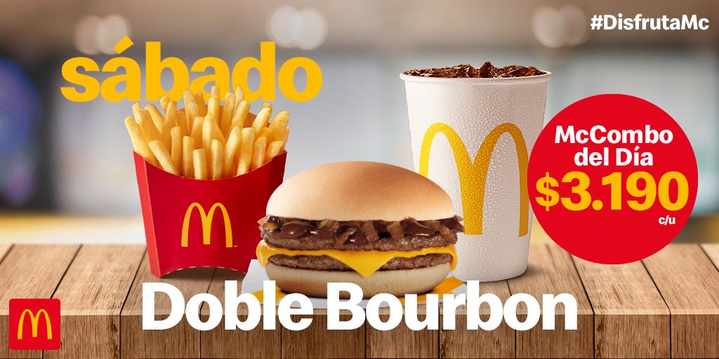 ¿Pensando en algo rico? Aquí te dejamos el delicioso McCombo del día Doble Bourbon 😋 Disfrútalo solo por $3.190 https://t.co/Tam5kpouC4