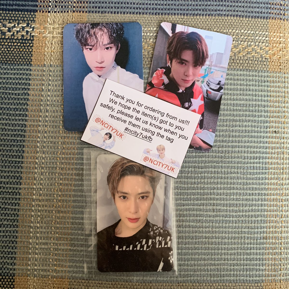 woooooh jaehyun is finally home!!! thank you so much  (also love the dojae freebies T____T) @ncity7uk #ncity7ukfb <br>http://pic.twitter.com/b7195enQuz