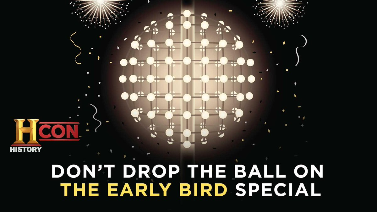Don't drop the ball on early bird pricing for #HISTORYCon! Meet Rick Harrison, Doug Marcaida and more on April 3-5. Get your tickets here: https://t.co/y3Sy1vy2Cb https://t.co/ftkRgGky7E
