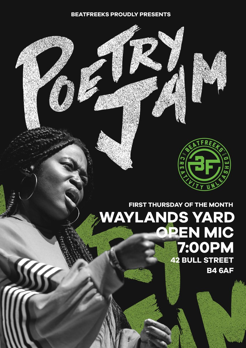 First Poetry Jam of 2020 will be 2ND JANUARY. See you next year?