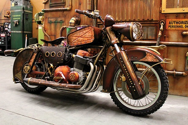 #Bike 🏍️ Awesome of the Day: #Western #Steampunk ⚙️ 1976 Hondamatic 750 #Motorcycle By Fabricator Michael Deeter From Von Deeter Studio in #LasVegas #Nevada #US🇺🇸 via @FFJournalUpdate #SamaBikes