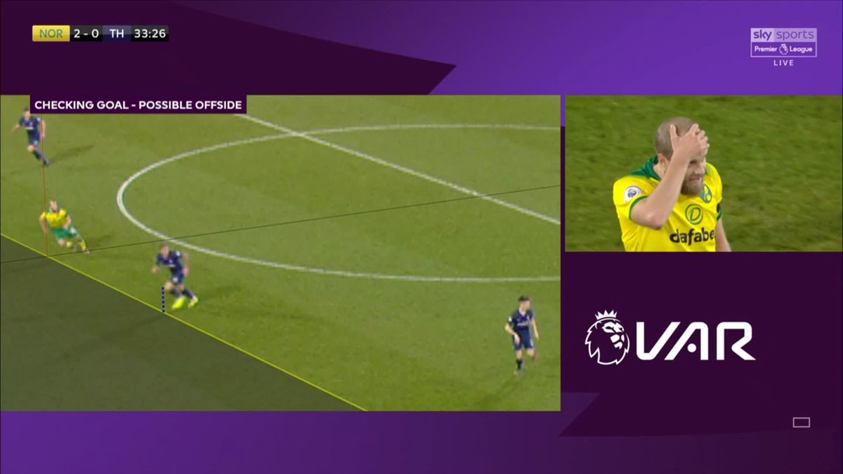 The last time I saw this much outrage on my Twitter timeline was when Pukki scored this and then VAR decided otherwise 😩