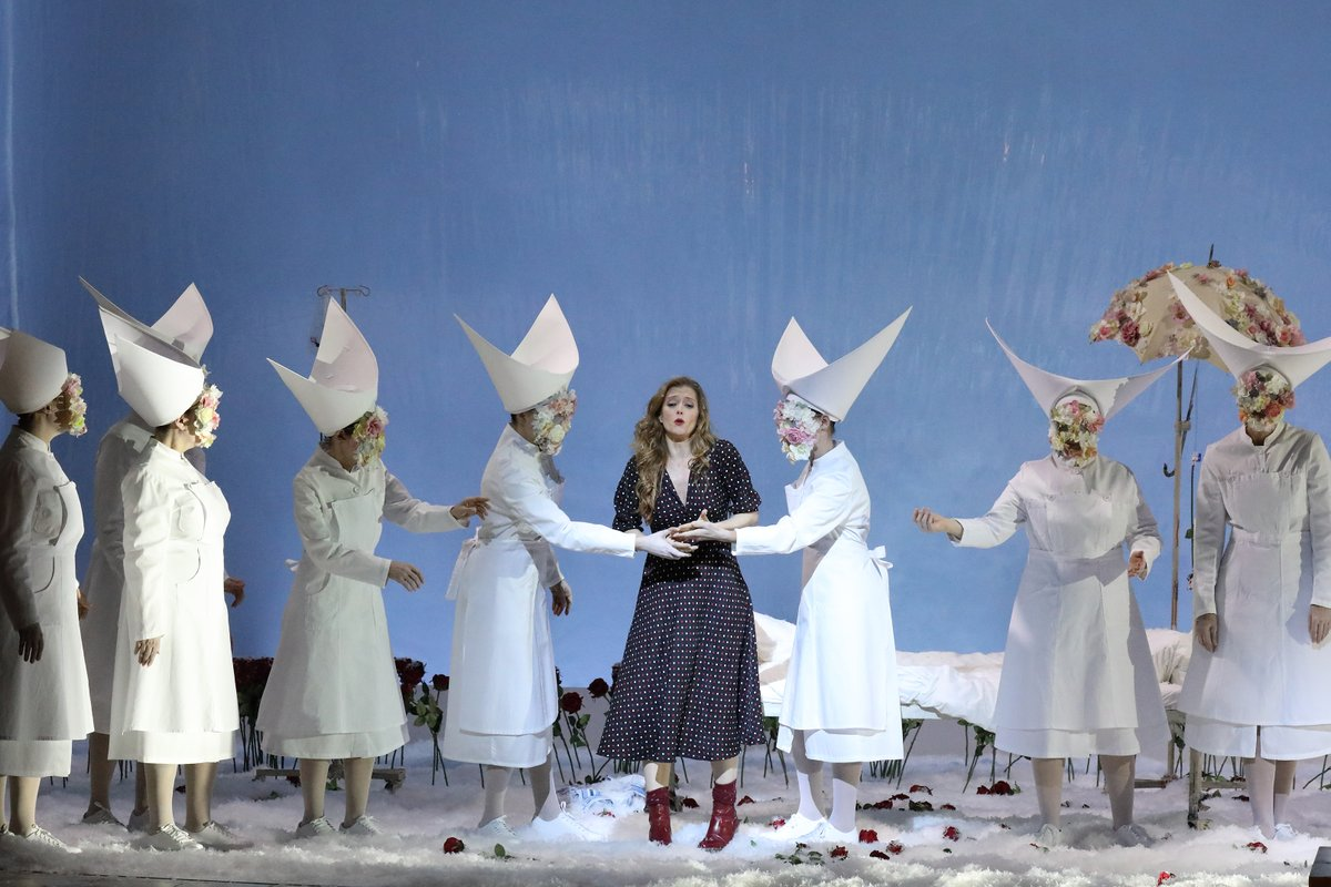 Fun fact: After the show the hats of the nurses are used to shovel the snow off the stage. #BSOsnowqueen #justkidding #ofcoursenot