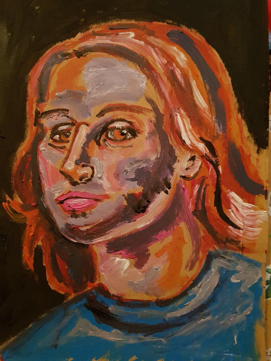 Spare paint scrap art portrait ❤❤