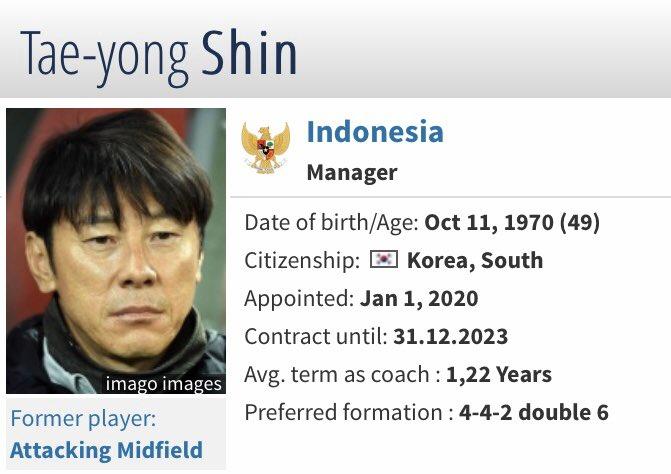 Selamat datang di Pelatih Tim!!!  Statistik sebagai Pelatih Pertandingan: 167 Menangkan: 67 Seri: 39 Kehilangan: 61 Poin per Game: 1,44  Statistics based on #Transfermarkt #TeamIndonesia pic.twitter.com/Dt16fdyvmC