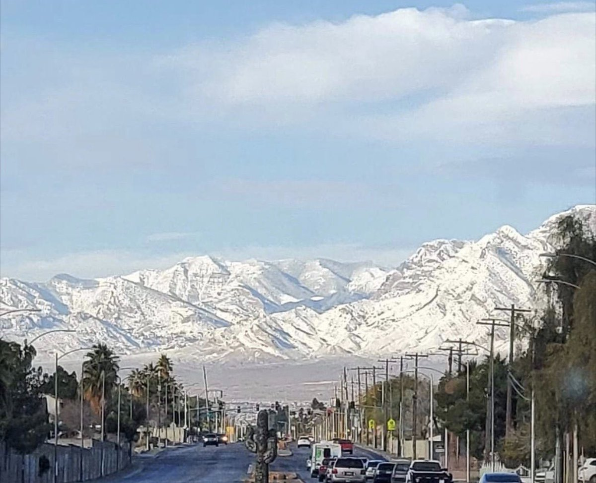 Was this picture taken in Denver? No... Las Vegas, yesterday!