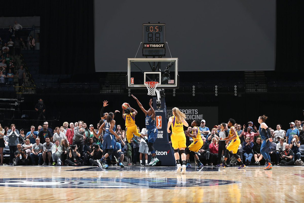 2018: the shot heard around the @WNBA. The emergence of a superstar, @cgray209 the #PointGAWDDDDD!   #GoSparks #LeadTheCharge #WNBAVault https://t.co/wM0XC5JKtp