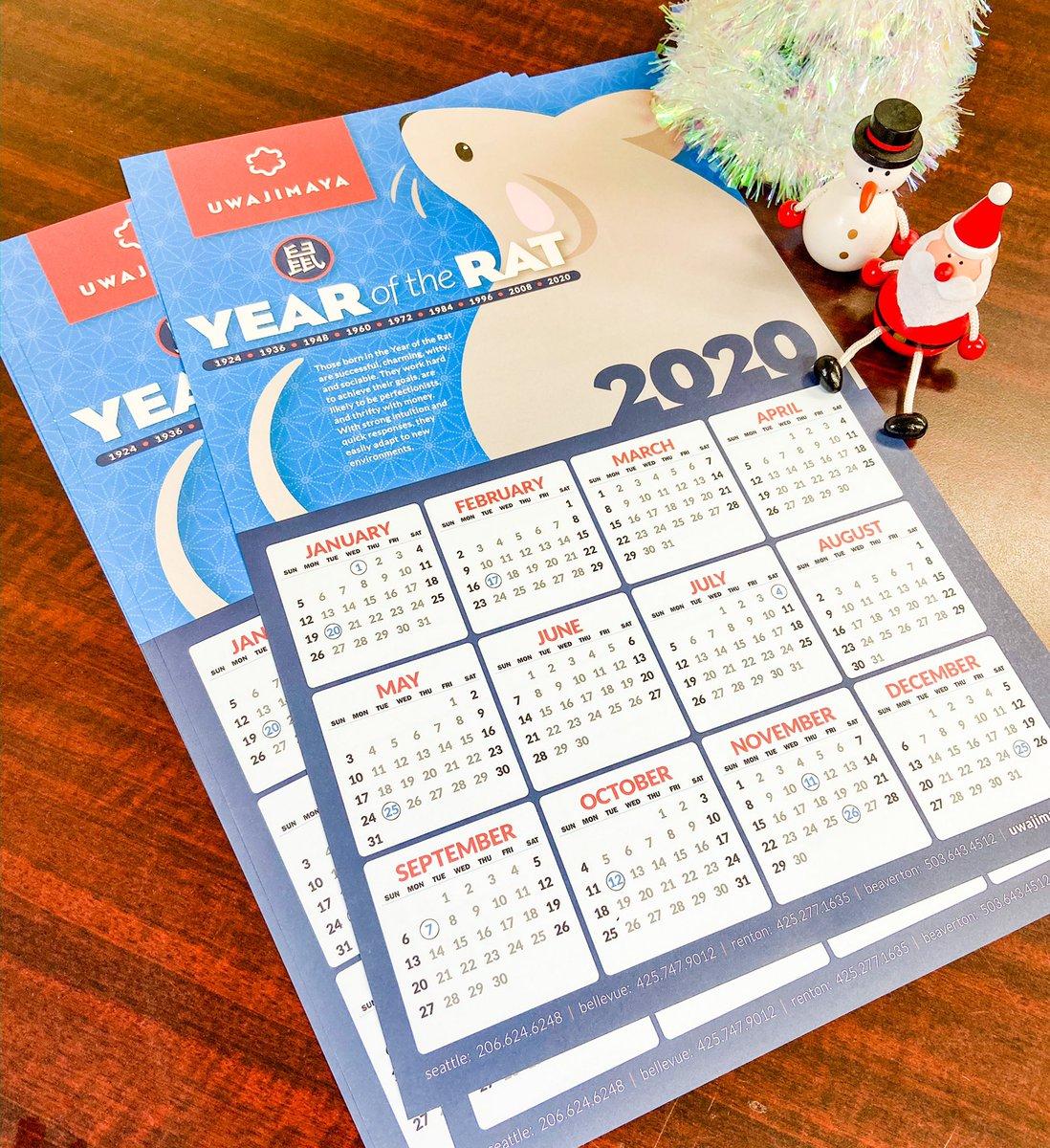 Uwajimaya On Twitter Our Free One Page Year Of The Rat Calendars Are Now Available At All Uwajimaya Locations Yearoftherat シアトル ポートランド Pnw Pacificnorthwest Newyearsdayband Https T Co Ktgoawawhb
