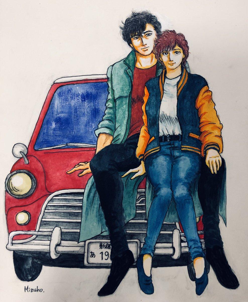 #獠ちゃんとMINI #実写シティーハンター キャンペーン〆切過ぎちゃったけど…せっかく描いたのでアップします!超久しぶりに描いたシティーハンター…やっぱり原作寄りになっちゃいます。 https://t.co/fHzwqn7WMF