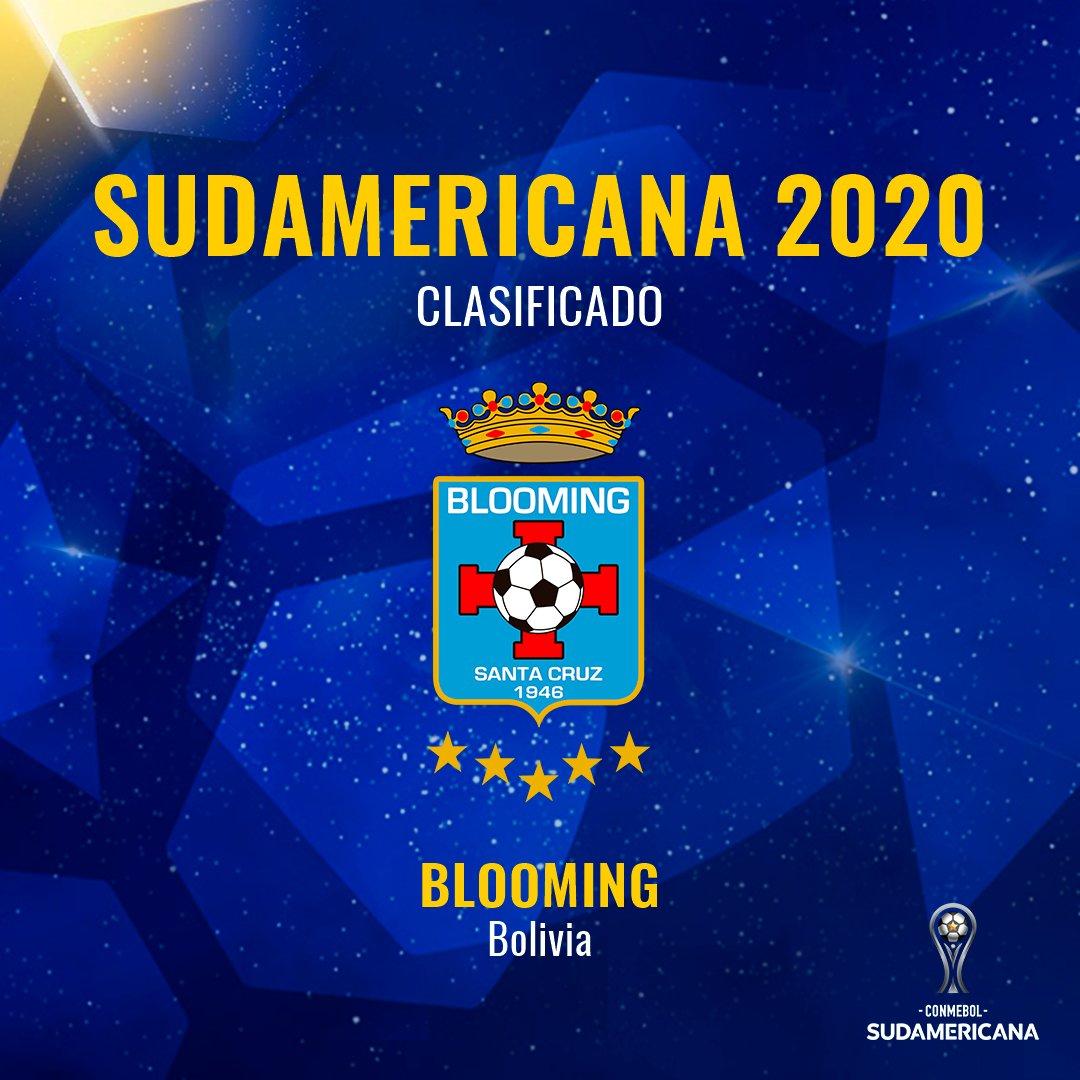 🎉⚽ Otro clasificado a la #Sudamericana: @BloomingOficial jugará la edición 2020.  🇪🇨⚽🇧🇴 Se medirá con @CSEmelec. La ida será en Bolivia, el 6 de febrero. El 20, la revancha en Ecuador.