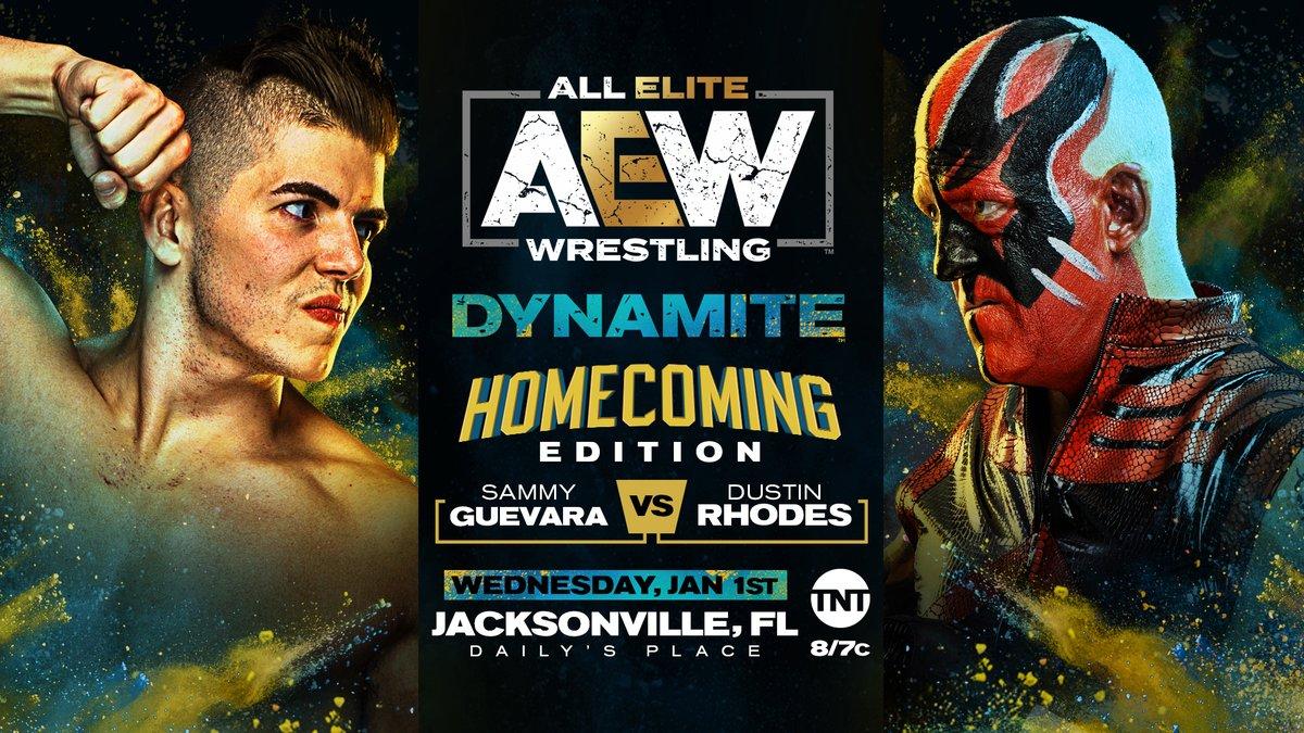 AEW Announces Dustin Rhodes Vs. Sammy Guevara For Dynamite: Homecoming