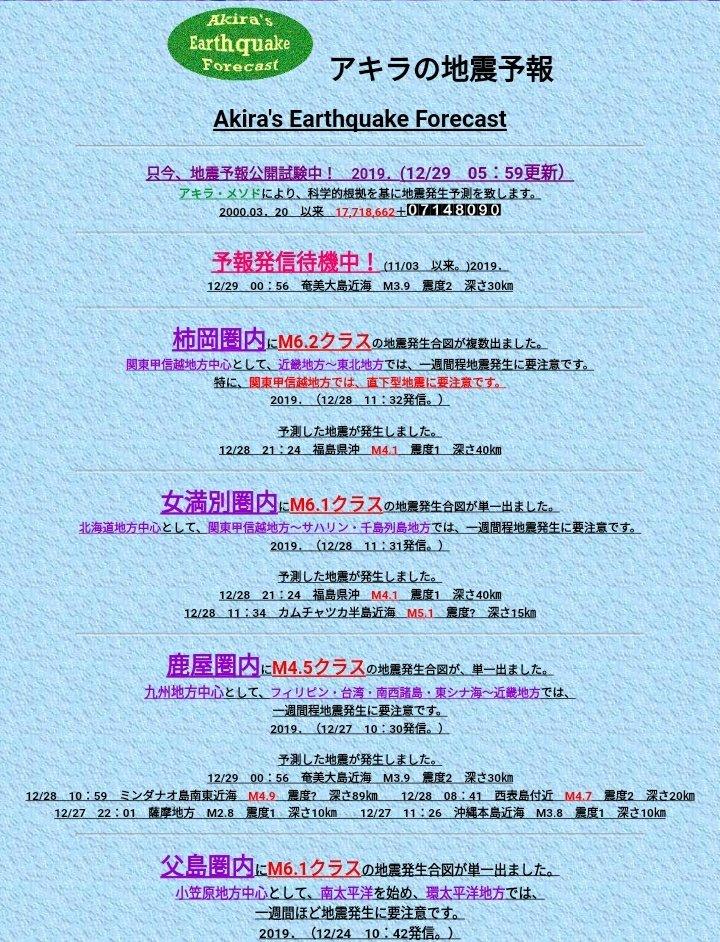 地震 予報 の アキラ 地震予報 串田嘉男氏のFM電波電離層地震前兆観測による地震予測法を動画解説