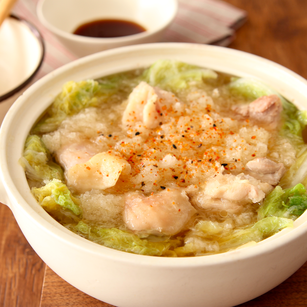 【鶏のみぞれ鍋】スープが優しくておいしい… 家にある調味料だけで味決め簡単です