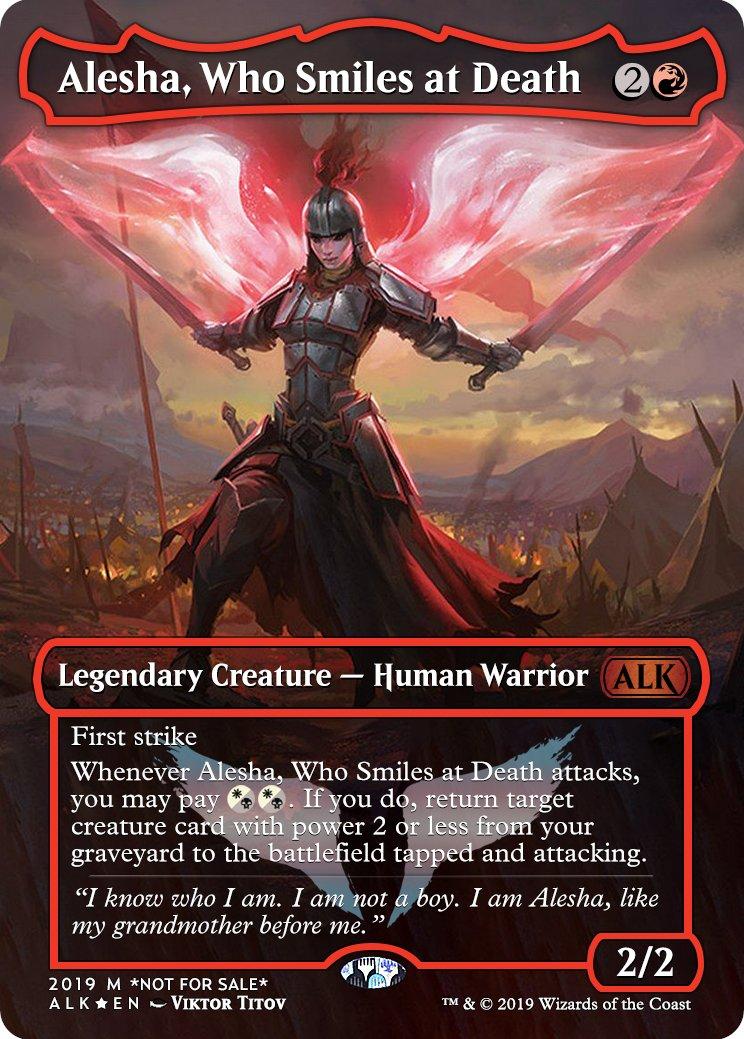 Mtg altered art card-Alesha Who Smiles at Death