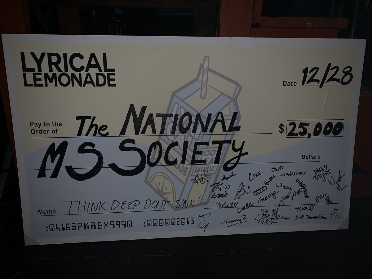we raised $25,000 for the National MS Society tonight !!!