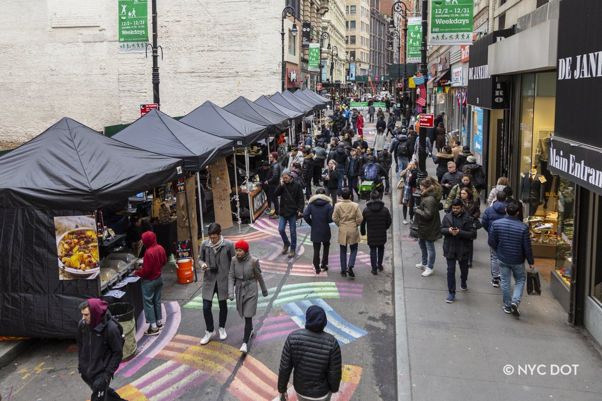 Only 2 more days left for our #holidaymarket on Nassau St as part of @NYC_DOT #SeasonalStreets initiative. Thanks @NYCMayorsOffice  @NYCMayor for getting some local biz cheer to 2020pic.twitter.com/GQfXOm4PAW