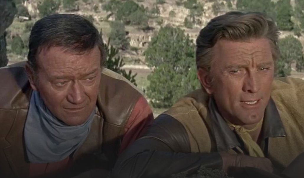 The Duke and The Dimple. What more could you ask for?  The War Wagon. 3.35pm @ITV4 https://t.co/y8b9mPRijB