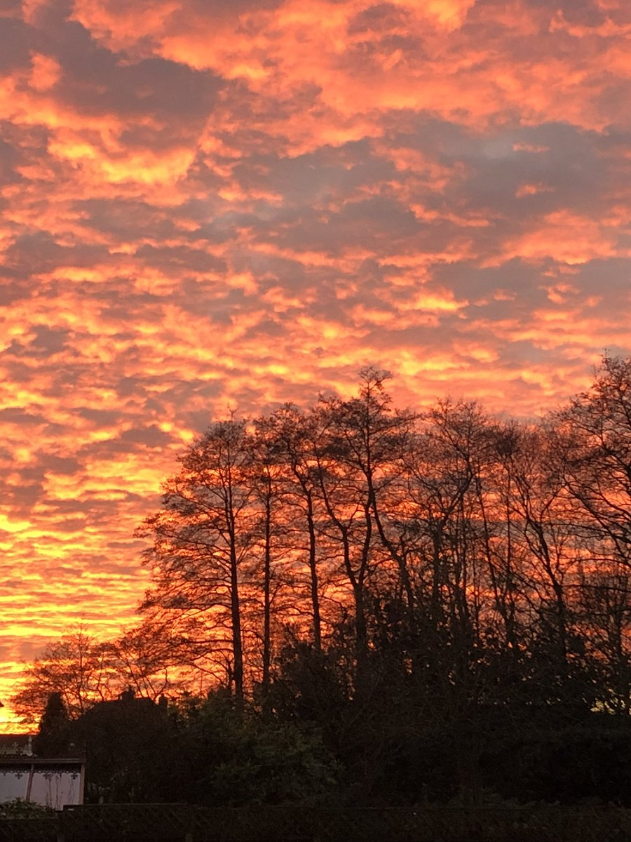 Sky looks like it's on fire this evening #beautifulstaffordshire #home https://t.co/4DRZVBo5aF