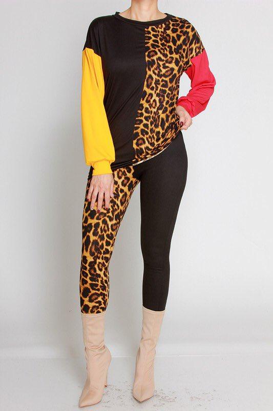 Color Block Leopard Pants Set http://www.glamcoutureboutique.com  #glamcoutureboutique #neworleans #noa #fashiontruck #boutique #mobileboutique #shopthetruck #westopyoushop #boutiqueonwheels #trending #bestseller #newarrivalspic.twitter.com/yD6C3Ui5gP
