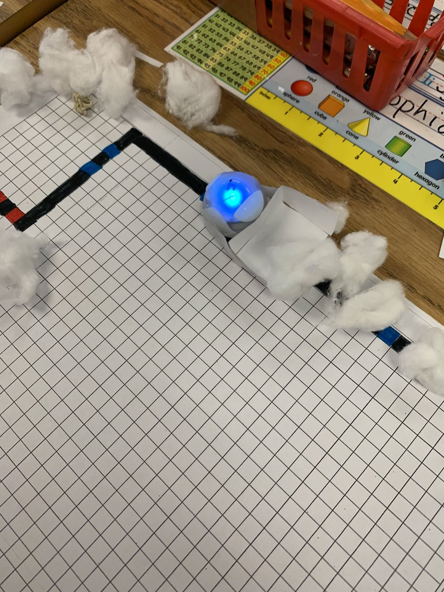 "We made snowplows and attached them to Ozobots today. Lots of interesting shapes and paths through the ""snow"". <a target='_blank' href='http://search.twitter.com/search?q=hfbtweets'><a target='_blank' href='https://twitter.com/hashtag/hfbtweets?src=hash'>#hfbtweets</a></a> <a target='_blank' href='http://twitter.com/DempseyRTG'>@DempseyRTG</a> <a target='_blank' href='http://twitter.com/Ozobot'>@Ozobot</a> <a target='_blank' href='http://twitter.com/HFBSTEM'>@HFBSTEM</a> <a target='_blank' href='https://t.co/hoVLi1zMAG'>https://t.co/hoVLi1zMAG</a>"