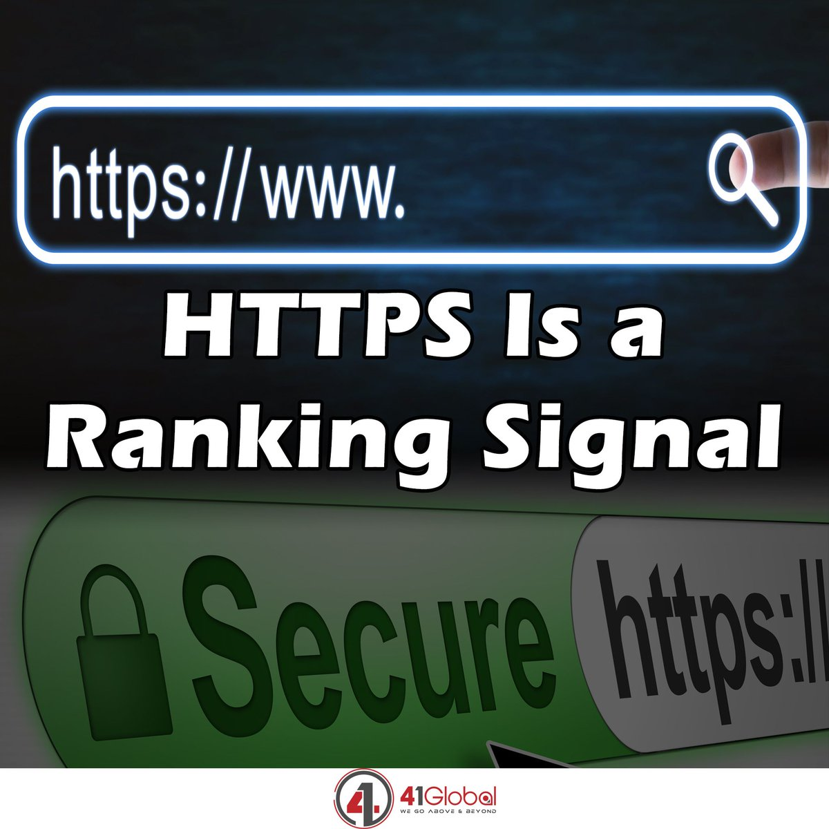 If visitors notice that you don't have HTTPS in your URL, they could leave right away.  They may also get a notification that your site isn't secure, and it's almost guaranteed that they'll leave asap following the security notification. #41global #SEO #socialmedia #security #web https://t.co/33lotstI6Z