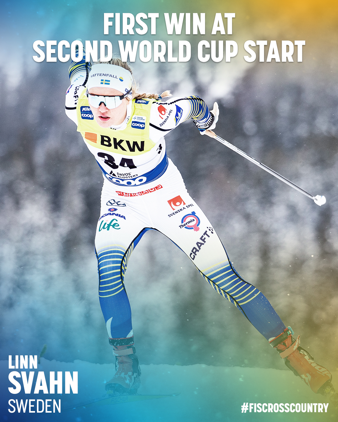 Fis Cross Country On Twitter Linn Svahn A Name To Remember The 20 Year Young Swedish Rookie Has Competed At Only One World Cup Event In Falun 2018 Before Taking Her First World Cup Victory This Past Weekend At Davos Nordic Fiscrosscountry