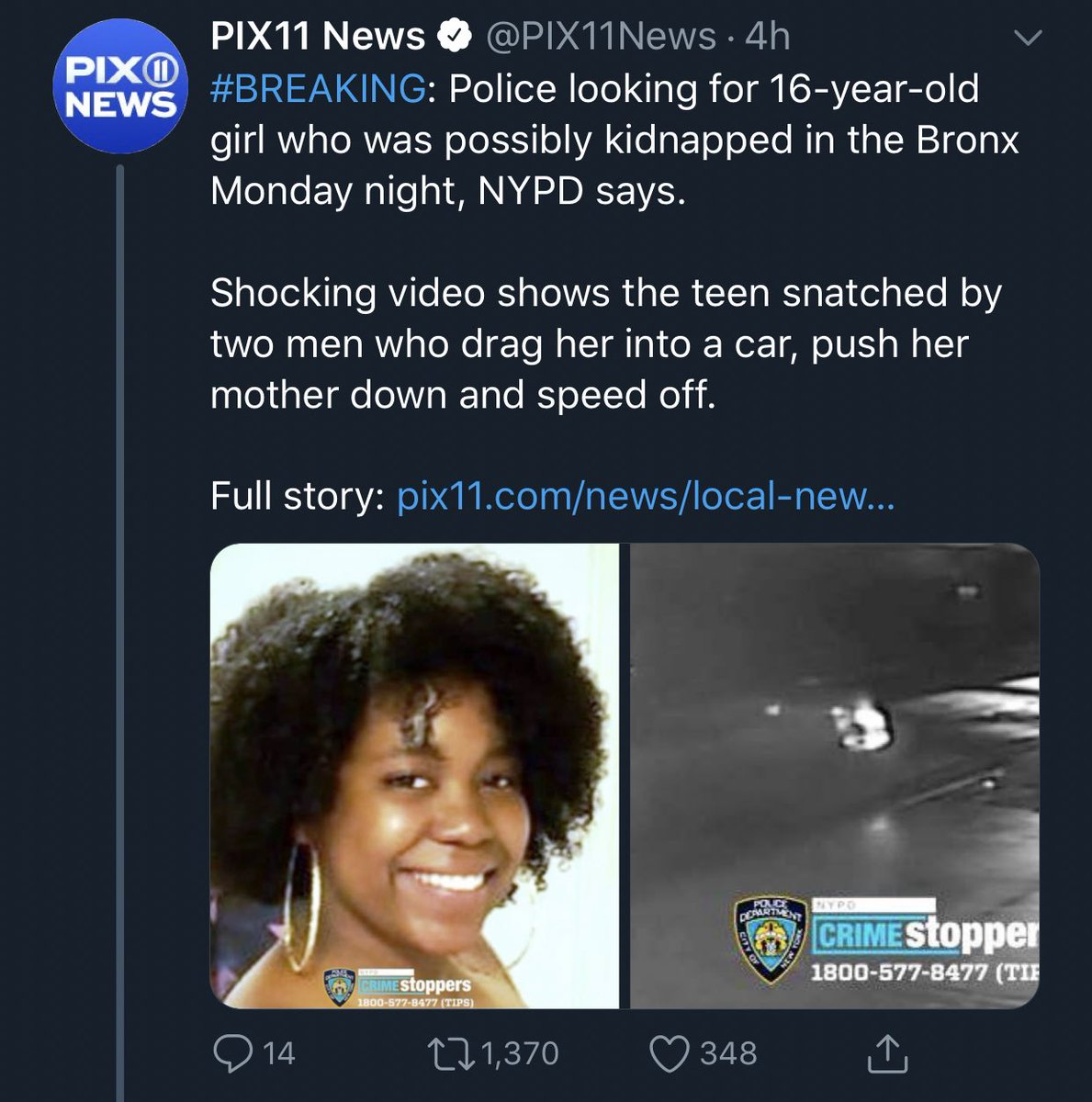 Paulette On Twitter This Is About Karol Sanchez S Kidnapping In The Bronx Why Isn T There More Info If It Was A White Girl They D Have Full Name Age Description Etc This Amber